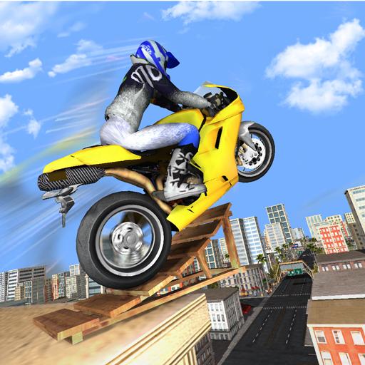 Rooftop Stunts Bike Racing-Motorcycle Trail World