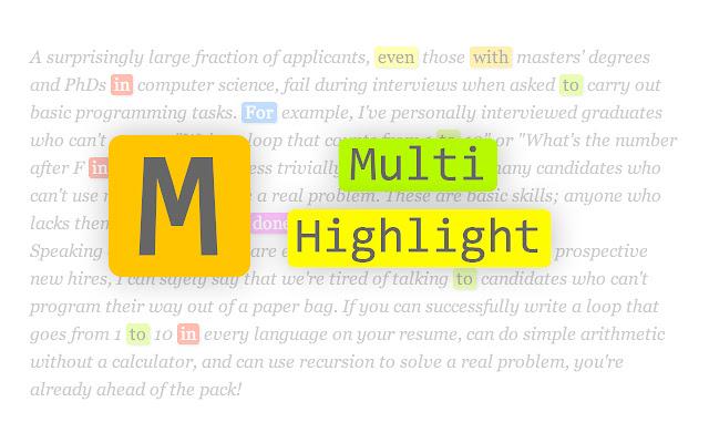 Multi-highlight
