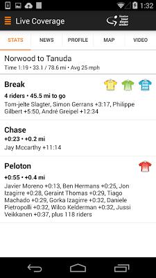 Tour Down Under Tour Tracker - screenshot