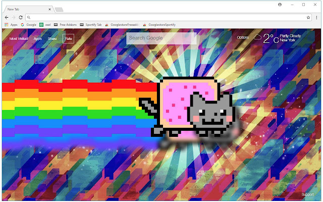 Nyan Cat Wallpapers New Tab Themes
