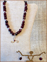 Photo: #186 CRADLE OF LIFE ~ КОЛИСКА ЖИТТЯ Sterling silver & garnet pendant, garnets, silver plate (with extender) $130/set SOLD
