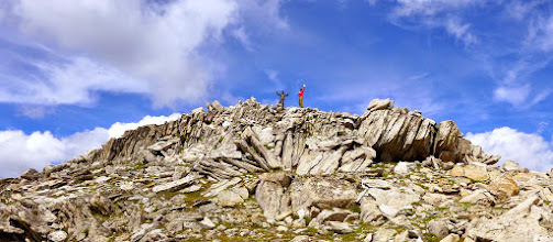 Photo: Jim and Kacey on the summit of Hollowtop