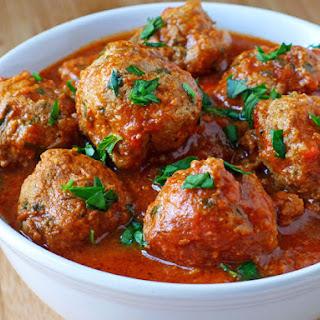 Meatballs with Pecorino Romano.