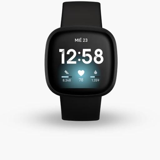 Fitbit Versa 3 en negro con aluminio negro