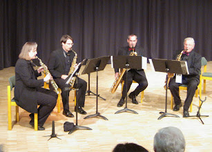 Photo: 2014-SAX MEETS BRASS - in Gilching mit Petra, Mathias, Axel und Helge
