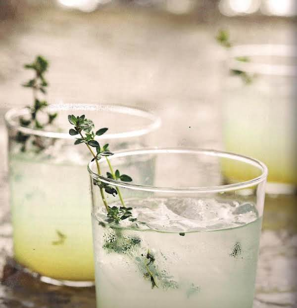 Limoncello Gin Cocktail With Grilled Thyme Recipe