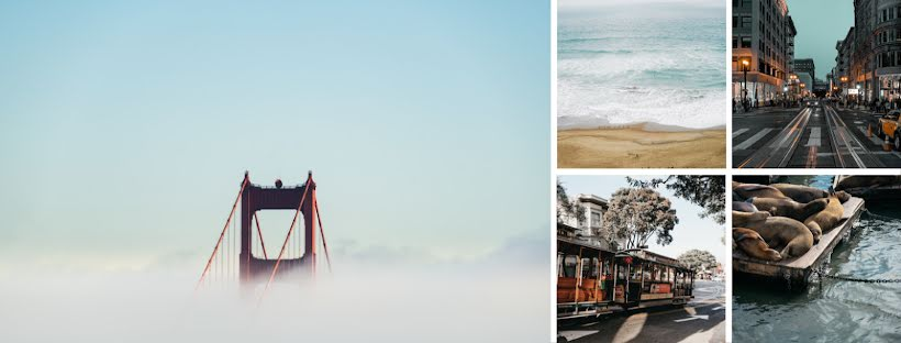 San Francisco Collage - Facebook Page Cover Template