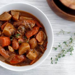 Seitan Portobello Stew.