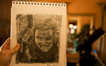 Photo: here is a sketch I did of the Joker... I love to draw... I also like to paint and do other things... I even have a ceramics wheel and I Ghost-it-up by myself sometimes... okay that sounds weird.