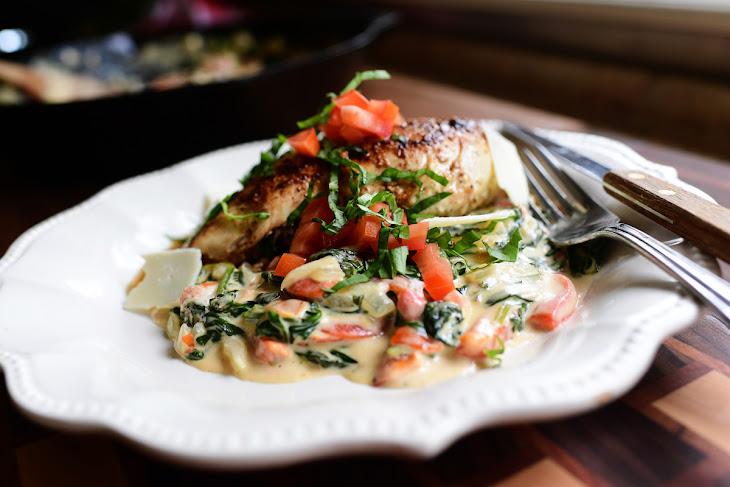 Creamy Spinach and Red Pepper Chicken Recipe