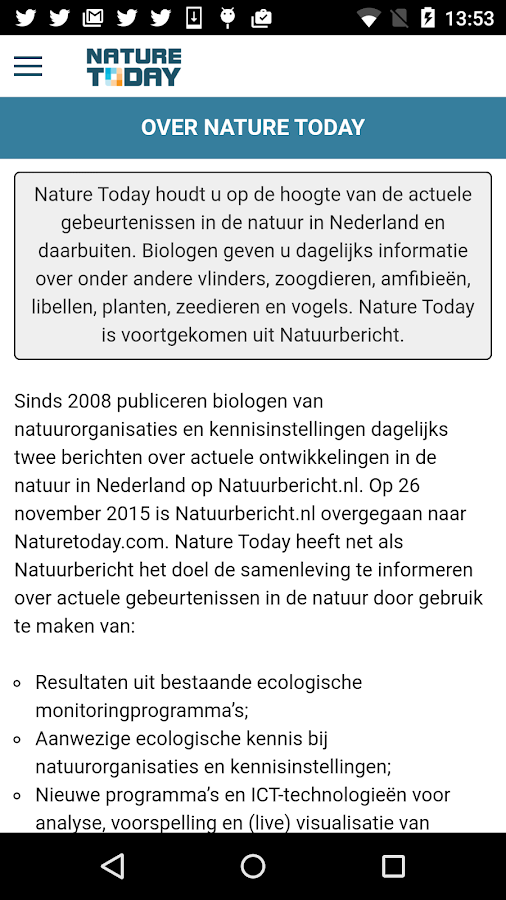 Nature Today- screenshot