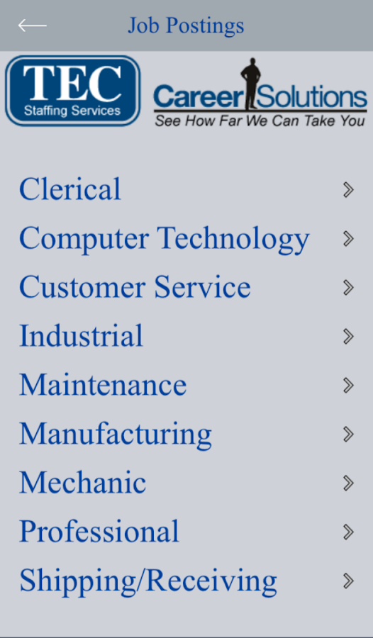 TEC Staffing Services- screenshot