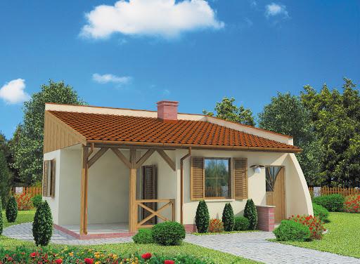 projekt Lublana dom letniskowy szkielet drewniany