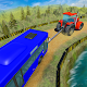 Chained Tractor Towing Rescue