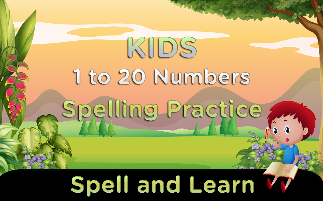 What does my phone number spell - Kids 1 To 20 Numbers Spelling Screenshot