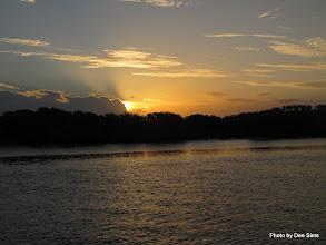Photo: Year 2 Day 237 - Lovely Sun Set on the Way Back from South Stradbroke Island