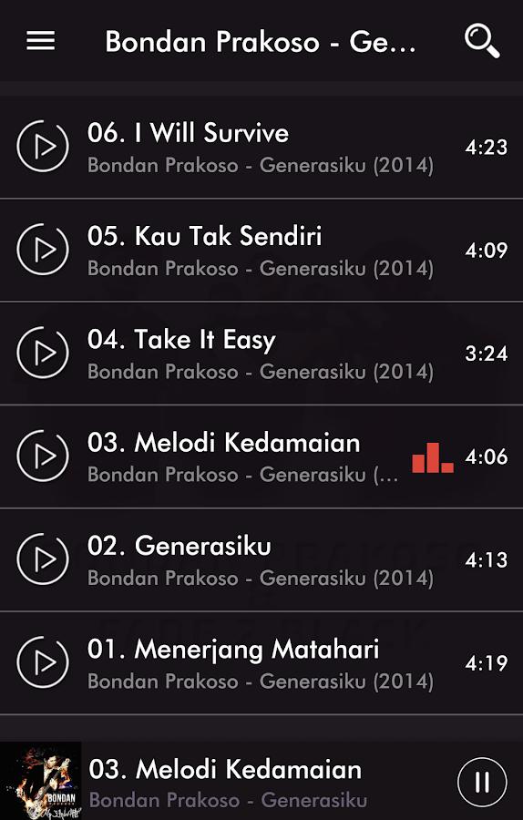 Lyric rap song finder by lyrics : Bondan Prakoso & Fade2Black Rap - MP3 Song + Lyric - Android Apps ...