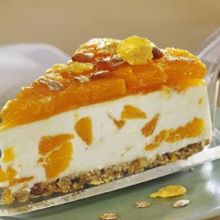 Mandarin Cheesecake with Granola Crust