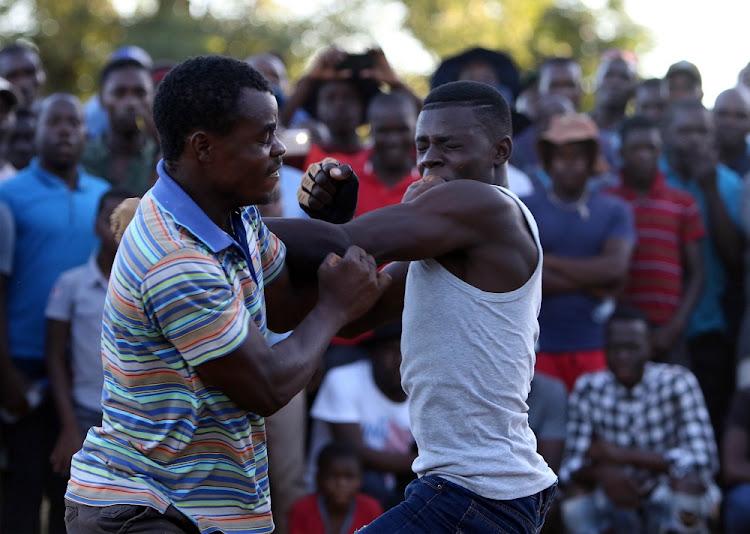 FILE PICTURE: This picture is only being used for illustration purpose. January, 07 , 2018. Fighters during the Venda traditional Musangwe fist fight, which is staged annually at Tshifudi village outside Thohoyandou.