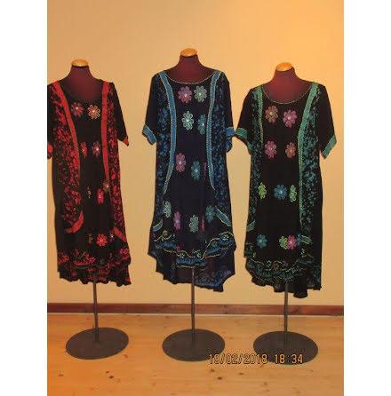 Dress 105 cm - Handembroidery, med kort ärm, AD-1810 H/S