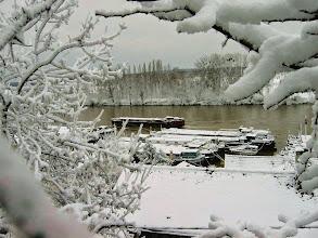 Photo: Seine et plaine d'Achéres sous la neige