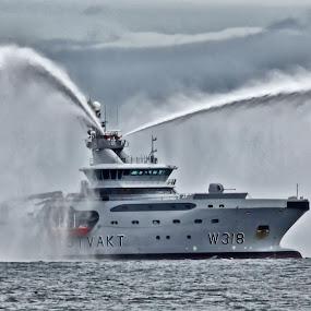 The Norwegian Coast Guard vessel KV Harstad by Kenneth Pettersen - Transportation Boats ( marine, coast guard, harstad, kv, andøy )