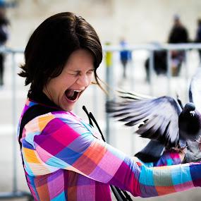 Feeding the birds by Ryan Skeers - People Street & Candids ( girls, greece, feeding, athens, birds )