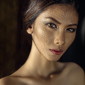 Web Face by Zaldy Tsubasa - People Portraits of Women ( natural light, face, unique, web, beauty, portrait )