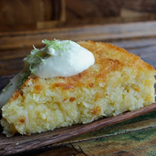 Flourless Bitter Lime Coconut Macaroon Cake with White Chocolate Whipped Cream.