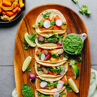 Roasted Vegetable Tacos with Chimichurri Recipe