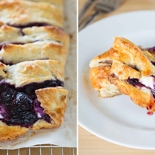 Blueberry Goat Cheese Pastry Braid