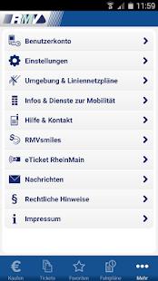 RMV Rhein-Main-Verkehrsverbund- screenshot thumbnail
