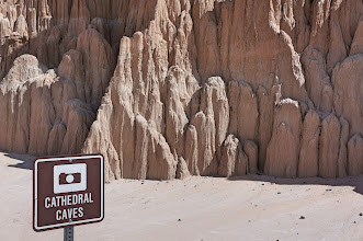 Photo: The highlight of our day was Cathedral Gorge State Park.