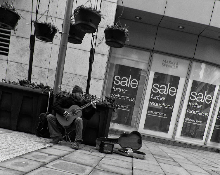 Photo: Busker in Manchester