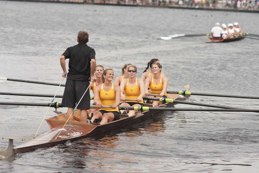 Rowing teams practice for a competition in Newfoundland, Canada.