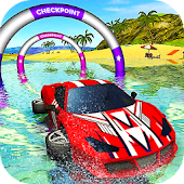 Floating Water Surfer Car Driving - Beach Racing