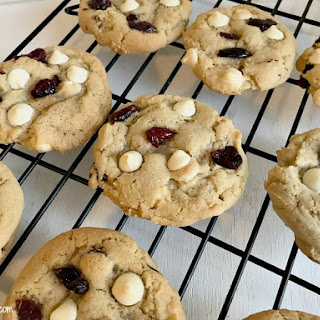 Soft & Chewy Cranberry White Chocolate Chip Cookies #FBLCookieExchange Recipe