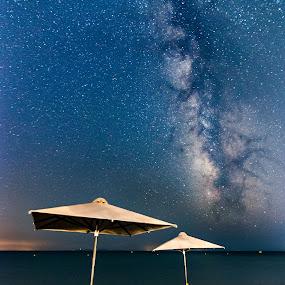 Summer Milky way by Grigoris Koulouriotis - Landscapes Starscapes ( milkyway, sky, night photography, samosisland, stars, greece, summer, long exposure, beach, galaxy,  )