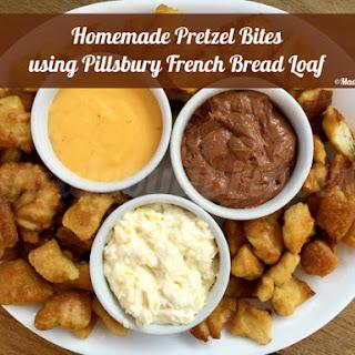 Pretzel Bites using Pillsbury French Bread Loaf.