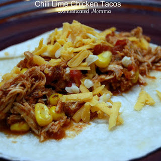 Crock Pot Chili Lime Chicken Tacos.