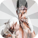 Muay thai training step icon