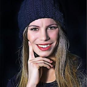 Portrait by Tasos Triantafyllou - Illustration People ( woman, smile, portrait )