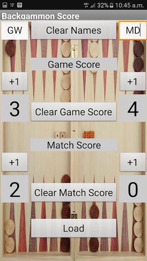 Backgammon Score