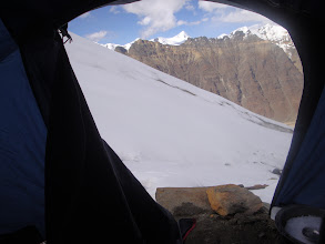 Photo: as it was post monsoon.... we got snow only after reaching Summit camp