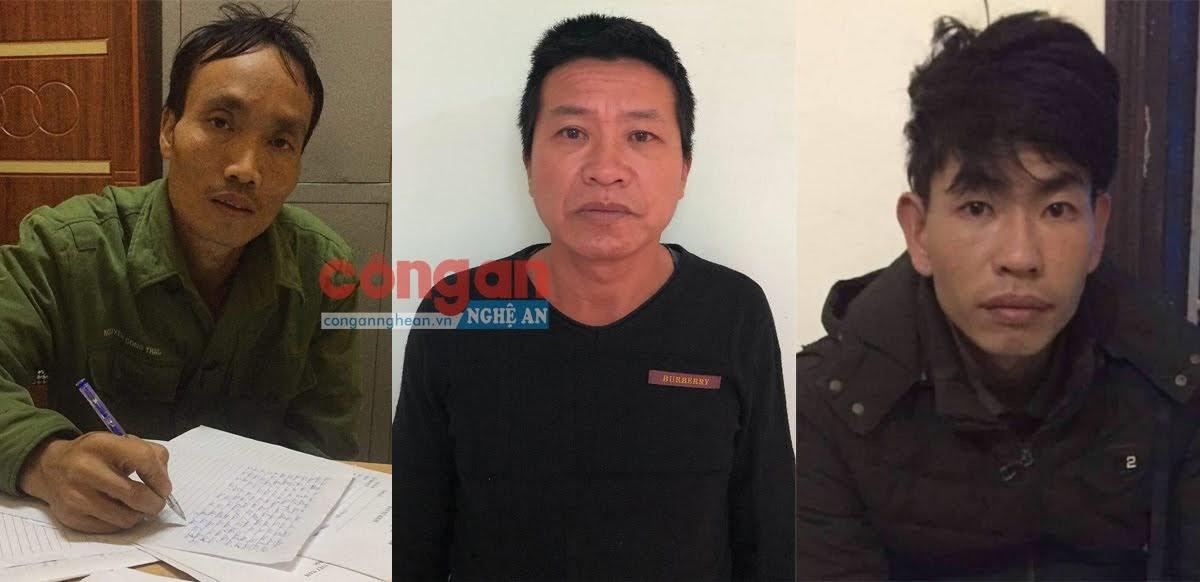 Các đối tượng bị Công an huyện Anh Sơn bắt giữ