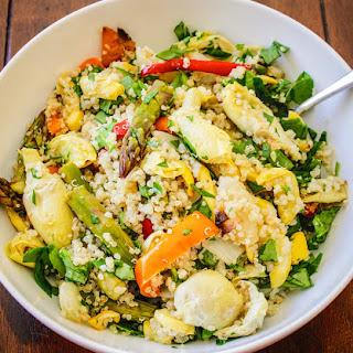 Spring Vegetable & Couscous Bowl.