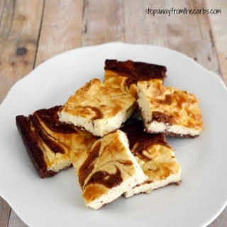 Low Carb Chocolate Cheesecake Brownies.