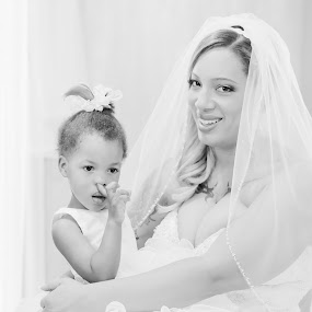 Silly Little Flowergirl! by Jennifer Mize - Wedding Getting Ready ( wedding, funny, flowergirl, picking nose )