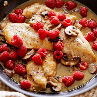 Mushroom Raspberry Chicken Breasts