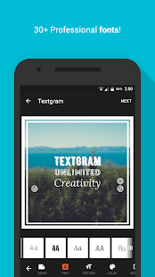 Textgram - write on photos: miniatura da captura de tela